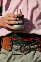 Gaucho with yerba-mate, Buenos Aires Province, Argentina